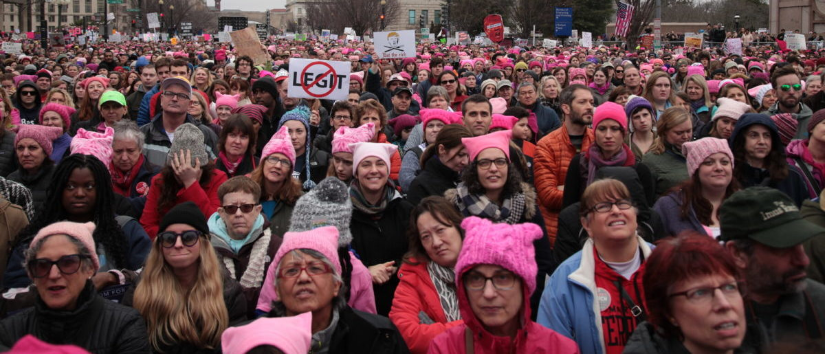 January 21, 2017 Pictured is the Women's March Washington, D,C. SHUTTERSTOCK/ Julie Hassett Sutton