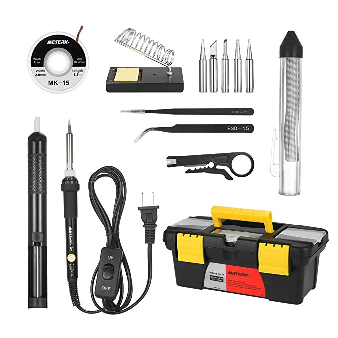 Normally $20, this soldering iron kit is 45 percent off with this code (Photo via Amazon)