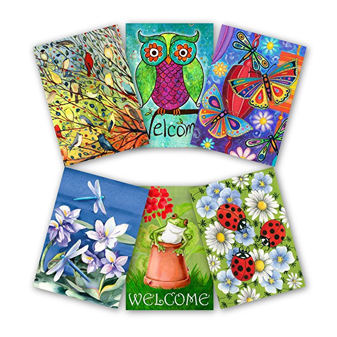 Normally $52, this 6-pack of garden flags is 52 percent off today (Photo via Amazon)