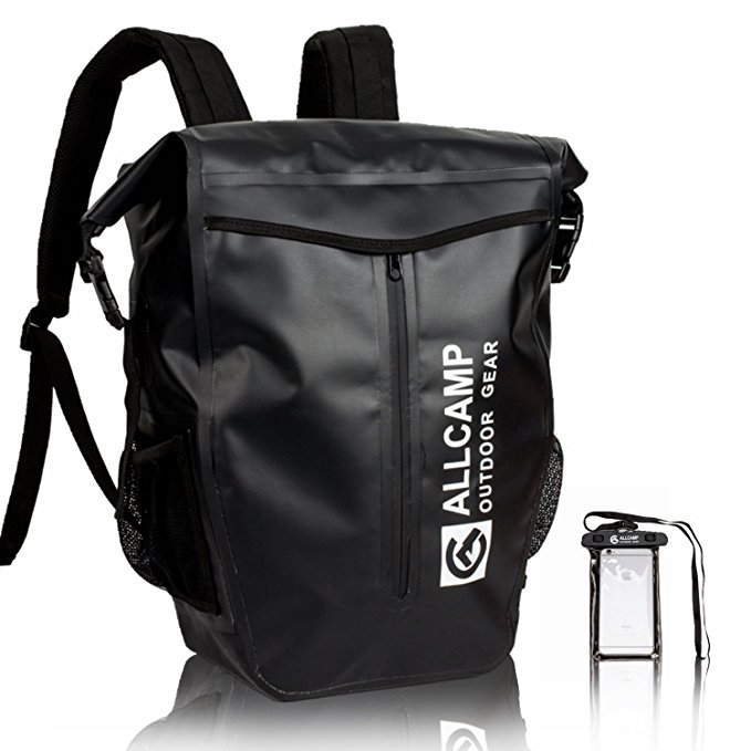 Normally $50, this waterproof dry backpack is 40 percent off today (Photo via Amazon)