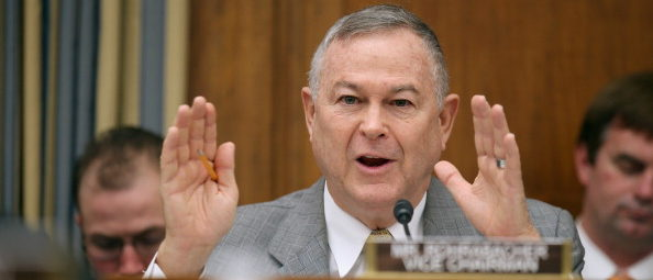 "WASHINGTON, DC - MARCH 19: House Science, Space and Technology Committee member Rep. Dana Rohrabacher (R-CA) questions witnesses from NASA, the Department of Defense and the White House during a hearing in the Rayburn House Office Building on Capitol Hill March 19, 2013 in Washington, DC. The committee asked government and military experts about efforts to track and mitigate asteroids, meteors and other ""near-Earth objects."" (Photo by Chip Somodevilla/Getty Images)"