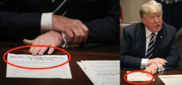 People Are Freaking Out Over What Trump Hand Wrote On The Back Of His Russia Statement
