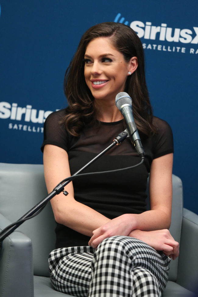 Abby Huntsman attends a special edition of SiriusXM's No Labels Radio, airing on SiriusXM POTUS at SiriusXM Studios on May 5, 2015 in New York City. (Photo by Rob Kim/Getty Images for SiriusXM)
