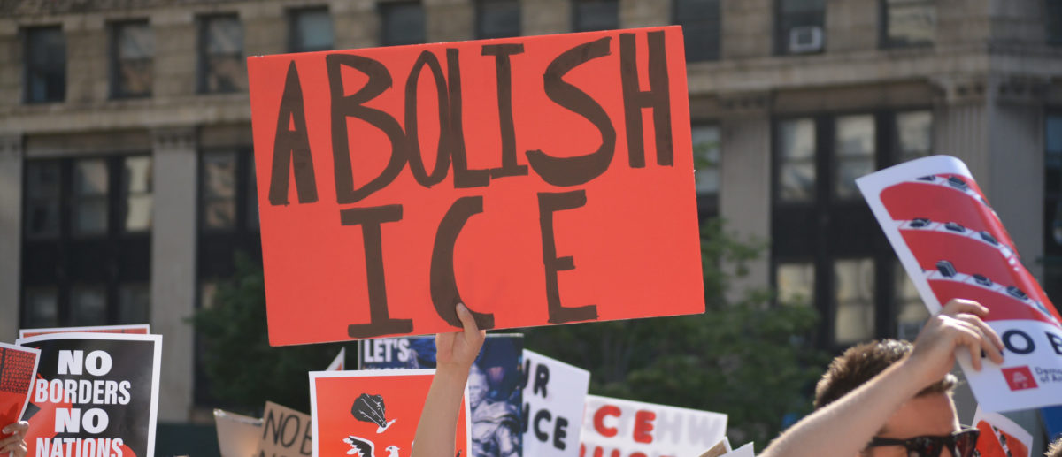 New York City, June 29, 2018 - People marching to convince the government to abolish ICE in Lower Manhattan. [Shutterstock/Christopher Penler]