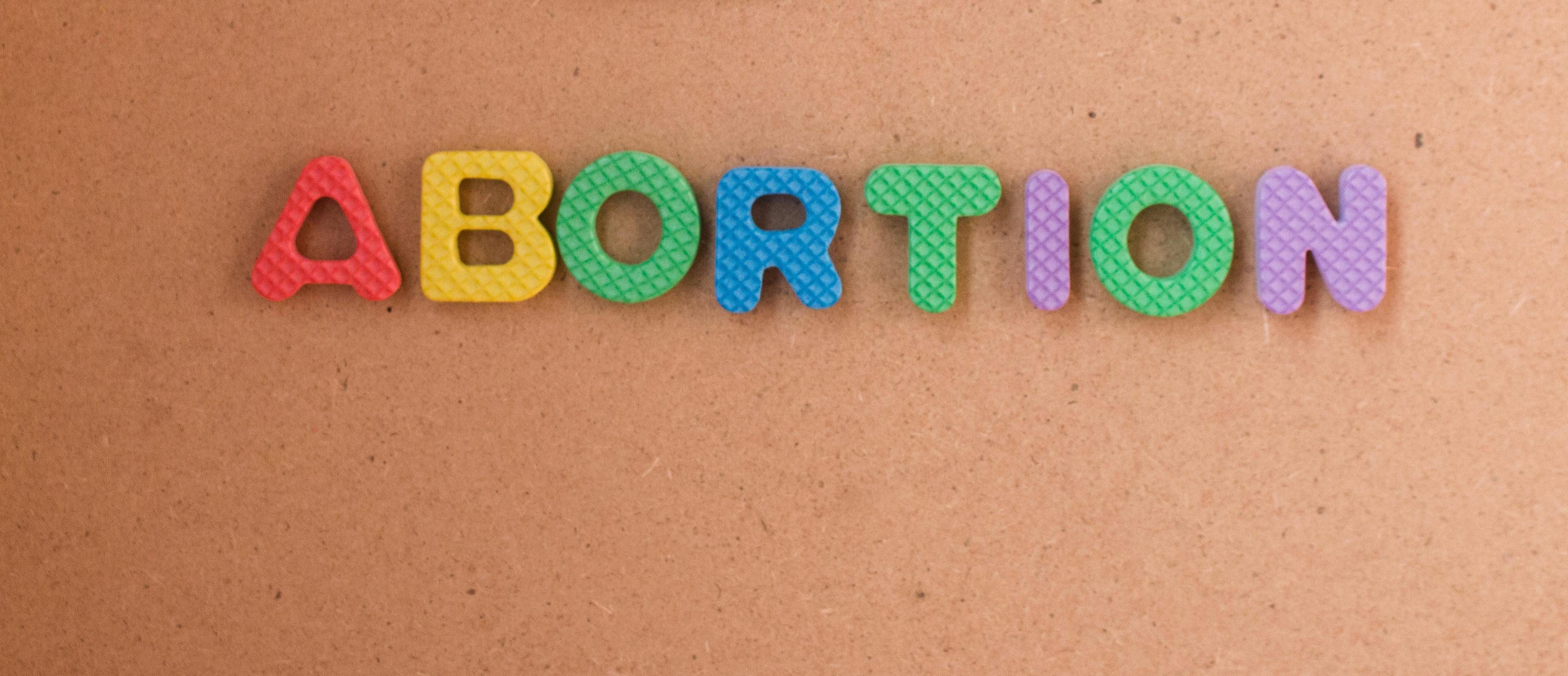 Abortion in colored letters (Shutterstock/MD ZAKIR HOSSAIN SOHEL)