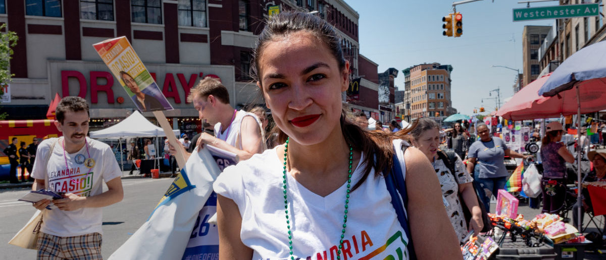 Alexandria Ocasio-Cortez marches during the Bronx's pride parade in the Bronx borough of New York City, New York, U.S., June 17, 2018. Picture taken June 17, 2018. REUTERS/David 'Dee' Delgado