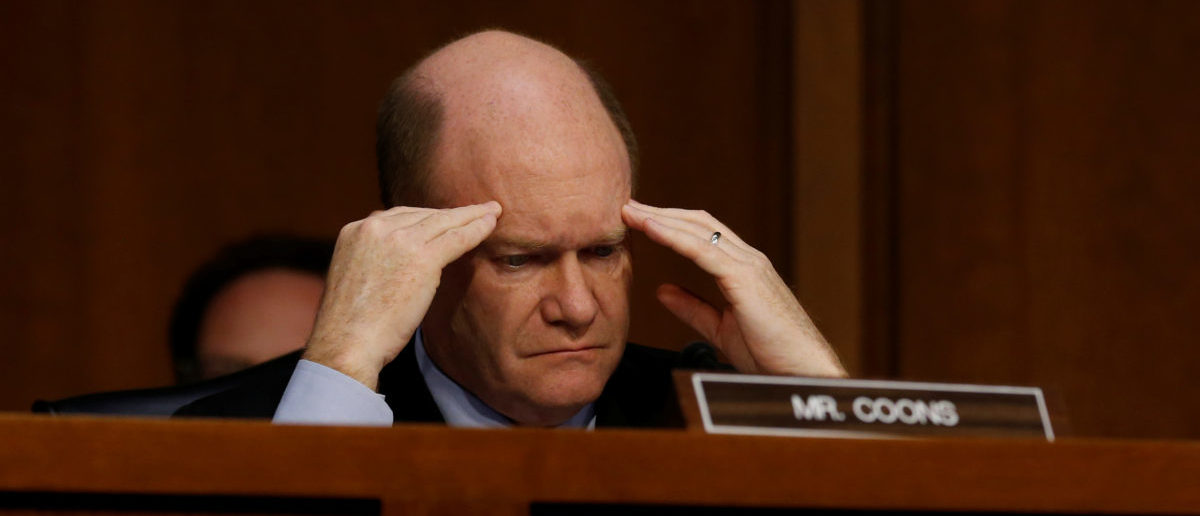 U.S. Senator Chris Coons (D-DE) waits his turn to question Supreme Court nominee judge Neil Gorsuch during the third day of his Senate Judiciary Committee confirmation hearing on Capitol Hill in Washington, U.S., March 22, 2017. REUTERS/Jonathan Ernst