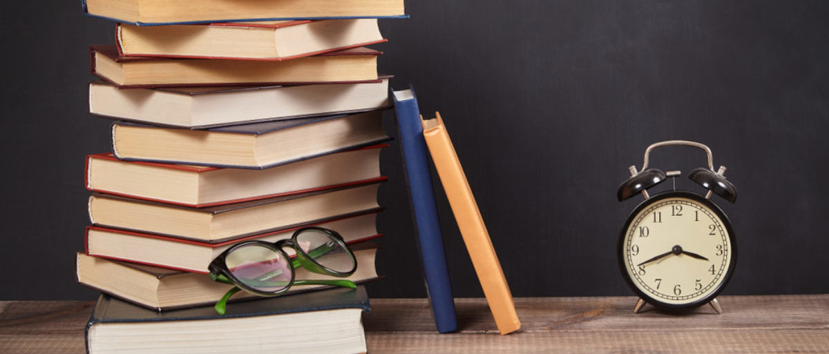 This classroom likely does not belong to Mr. Howarth, as he does not use textbooks. (Shutterstock/Happy Author)
