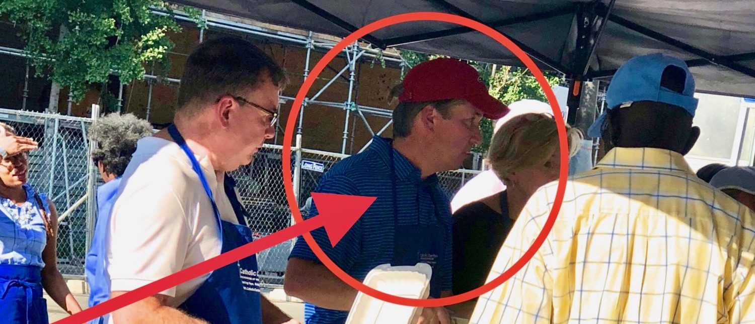 Judge Brett Kavanaugh feeding the homeless just days after his Supreme Court nomination. (Photo Credit: The Daily Caller News Foundation)
