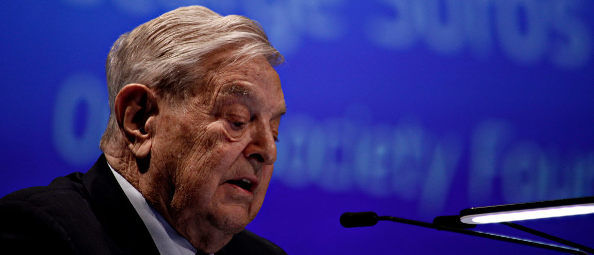 Pictured is George Soros. (Shutterstock/Alexandros Michailidis)