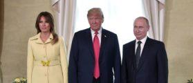 PHOTOS: Melania Rocks Heels And Yellow Jacket For Putin Meeting