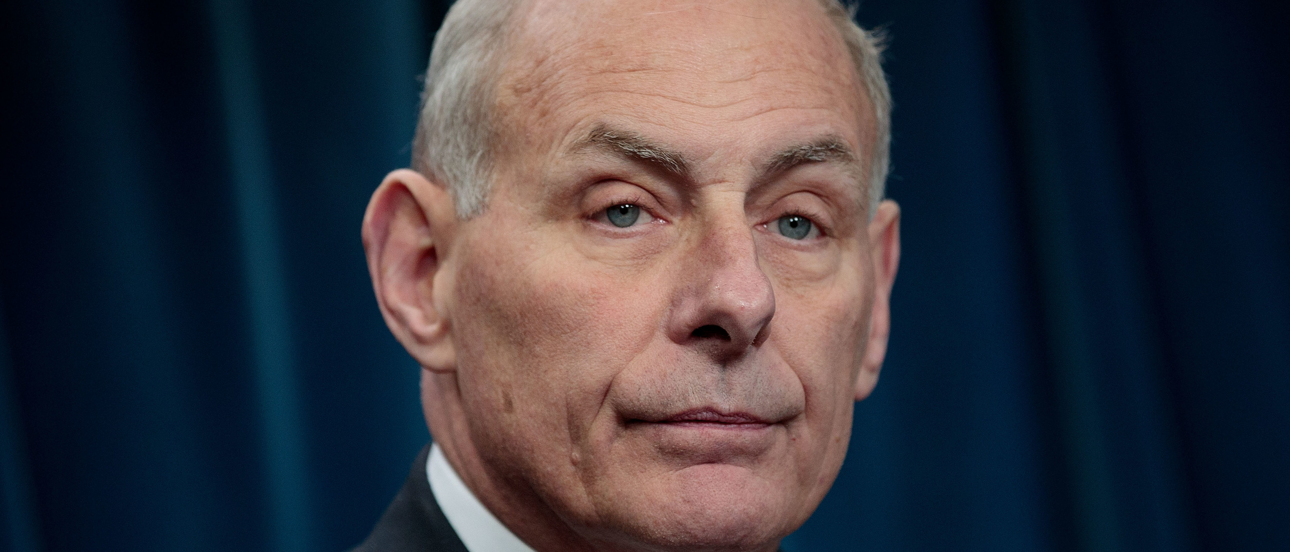 WASHINGTON, DC - JANUARY 31: Secretary of Homeland Security John Kelly answers questions during a press conference related to President Donald Trump's recent executive order concerning travel and refugees, January 31, 2017 in Washington, DC. On Monday night, President Donald Trump fired the acting Attorney General Sally Yates after she released a statement saying the Justice Department would not enforce the president's executive order that places a temporary ban on citizens from seven Muslim-majority countries. (Photo by Drew Angerer/Getty Images)