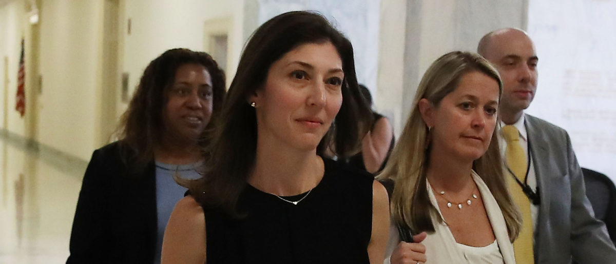 WASHINGTON, DC - JULY 13: Former FBI Lawyer Lisa Page walks to a House Judiciary Committee closed door meeting in the Rayburn House Office Building, on July 13, 2018 in Washington, DC. Page, who worked on the special counsel's Russia investigation, is under scrutiny by House Republicans for text messages exchanged with Deputy Assistant FBI Director Peter Strzok. (Photo by Mark Wilson/Getty Images)