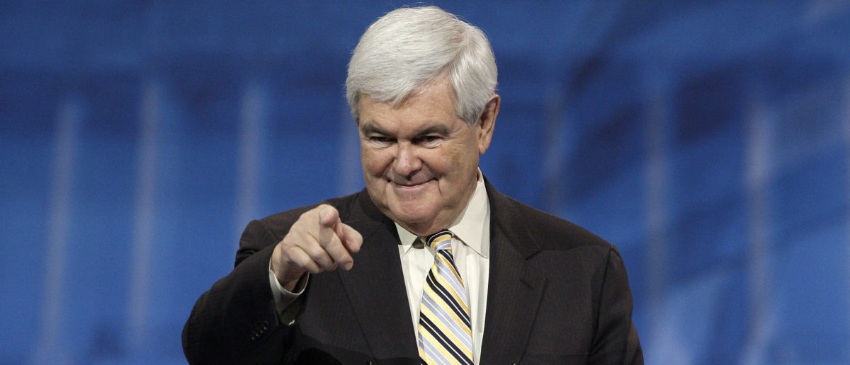 Former U.S. House Speaker Newt Gingrich (R-GA) takes the stage to speak to the Conservative Political Action Conference (CPAC) in National Harbor, Maryland, March 16, 2013. REUTERS/Jonathan Ernst (UNITED STATES - Tags: POLITICS) - GM1E93G1POA01