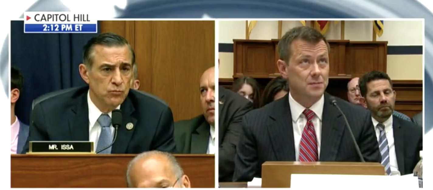 Issa Humiliates Strzok In Incredible Moment – Forces Him Read Aloud His Own Anti-Trump Texts