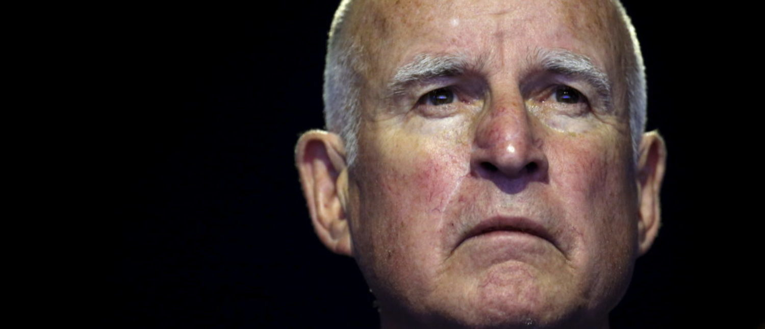 """California Governor Edmund """"Jerry"""" Brown attends a meeting during the World Climate Change Conference 2015 (COP21) at Le Bourget, near Paris, France, December 5, 2015. REUTERS/Stephane Mahe - GF10000255382"""