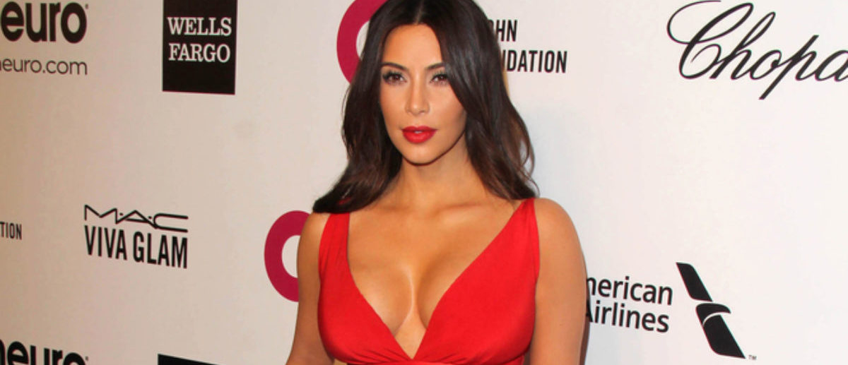 LOS ANGELES - MAR 3: Kim Kardashian at the Elton John AIDS Foundation's Oscar Viewing Party at the West Hollywood Park on March 3, 2014 in West Hollywood, CA (SHUTTERSTOCK: By Kathy Hutchins)
