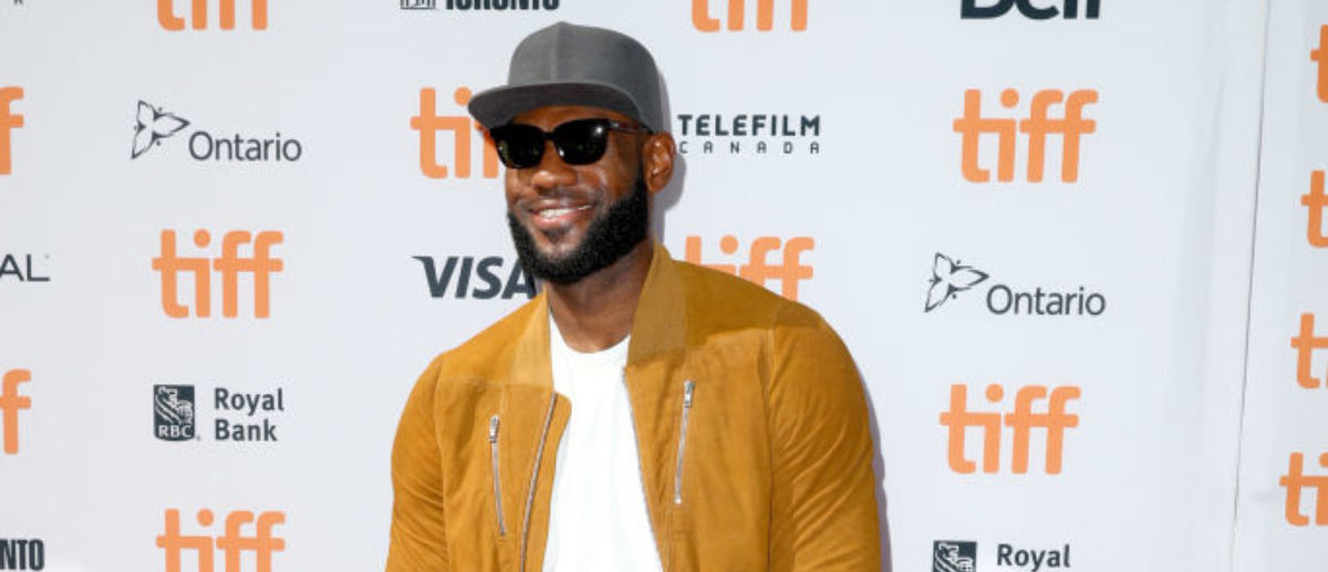 """TORONTO, ON - SEPTEMBER 09:  LeBron James attends """"The Carter Effect"""" premiere during the 2017 Toronto International Film Festival at Princess of Wales Theatre on September 9, 2017 in Toronto, Canada.  (Photo by Joe Scarnici/Getty Images)"""