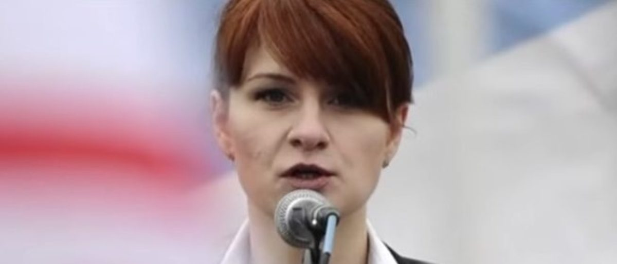 Pictured is Maria Butina. YouTube screen grab