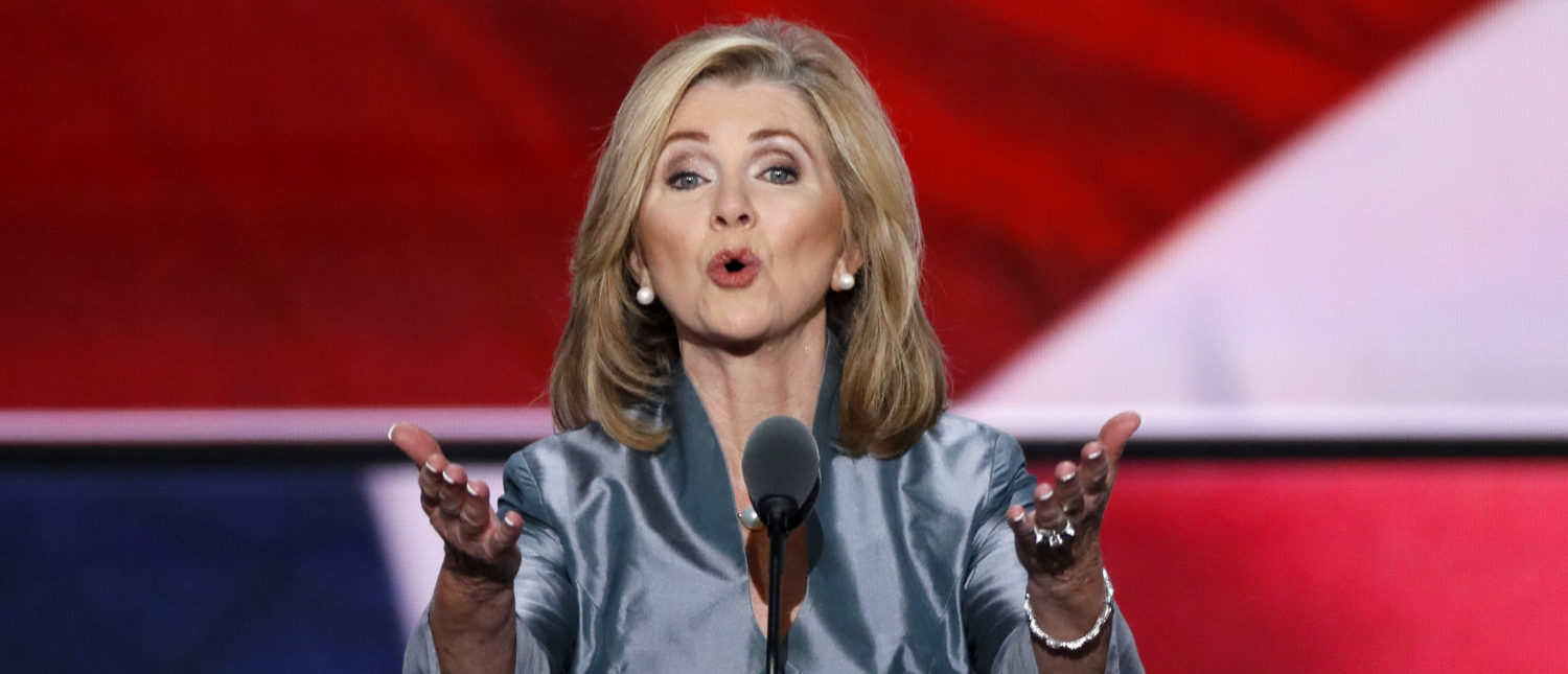 Representative Marsha Blackburn (R-TN) speaks during the final day of the Republican National Convention in Cleveland, Ohio, U.S. July 21, 2016. REUTERS/Mike Segar