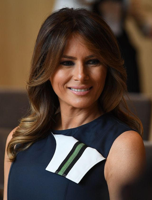 US First Lady Melania Trump looks on during a musical performance during a visit of the NATO Leaders spouses to the The Queen Elisabeth Music Chapel in Waterloo on July 11, 2018, on the sidelines of the first day of the North Atlantic Treaty Organisation (NATO) summit in Belgium. (Photo credit: RICCARDO PAREGGIANI/AFP/Getty Images)