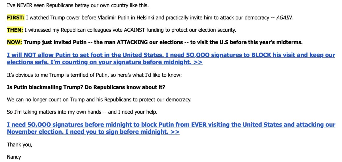 Nancy Pelosi, DCCC Push Blatant Lies In Fundraising Emails