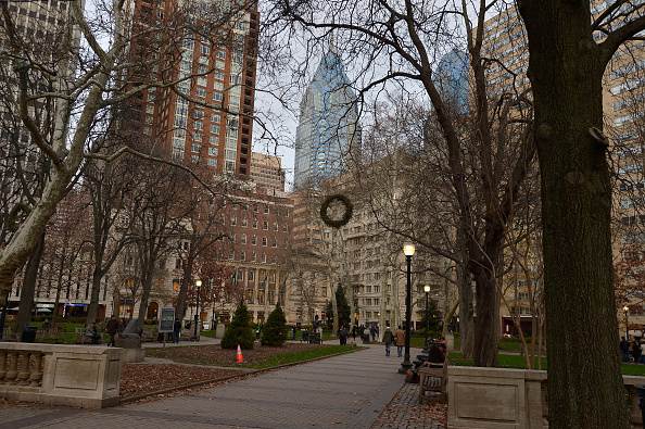 PHILADELPHIA, PA - DECEMBER 31: A general view of Rittenhouse Square on December 31, 2015 in Philadelphia, PA. (Photo by Paul Marotta/Getty Images)
