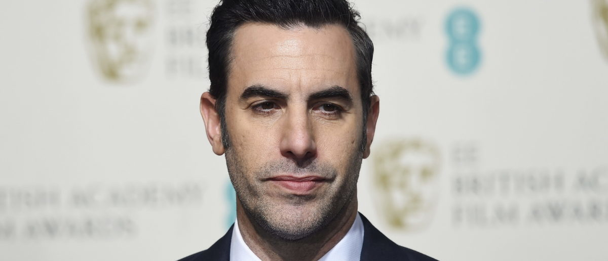 Presenter Sacha Baron Cohen poses at the British Academy of Film and Television Arts (BAFTA) Awards at the Royal Opera House in London, February 14, 2016. REUTERS/Toby Melville
