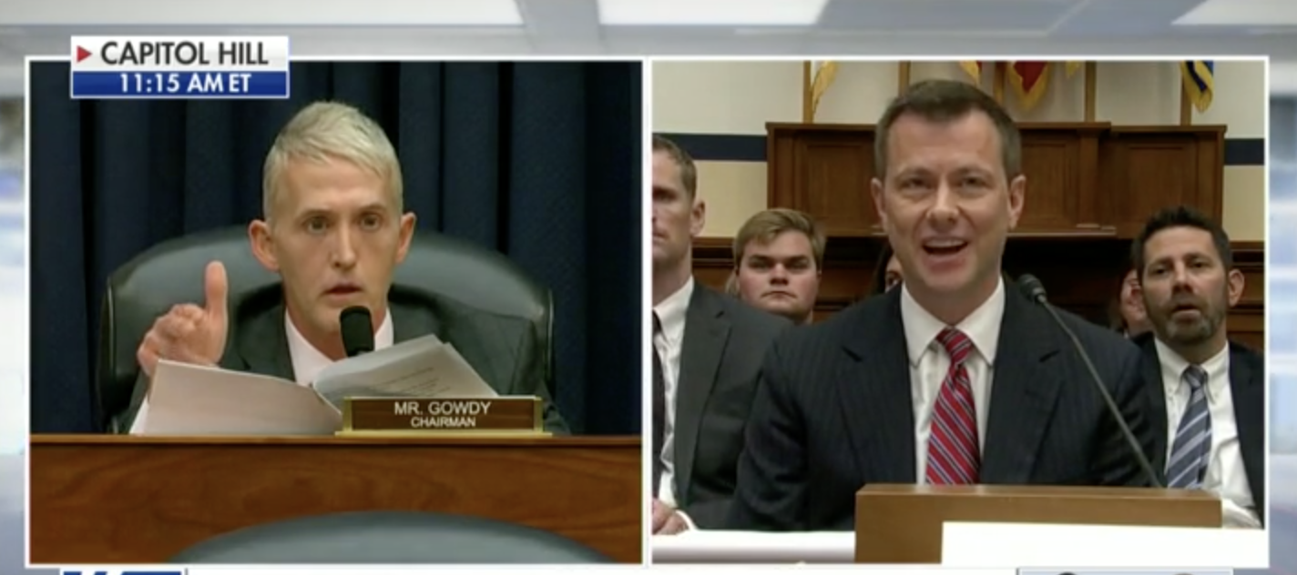 Gowdy Lights Trump-Hating Strzok On Fire For Saying Hillary Should Win '100 Million To 0'
