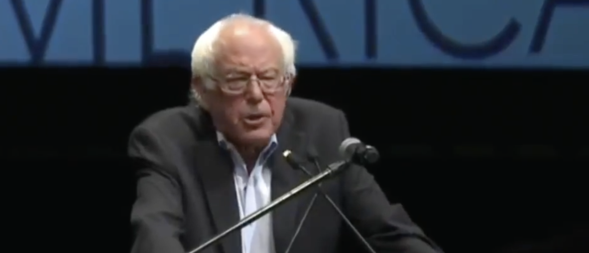 Sanders at a rally in Kansas (Youtube Screenshot @GOP)