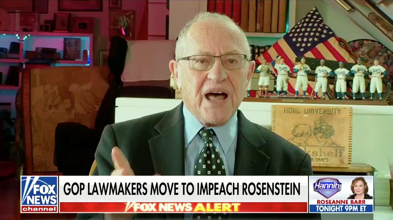 Dershowitz: Efforts To Impeach Rosenstein 'Stupid' And 'Shortsighted'