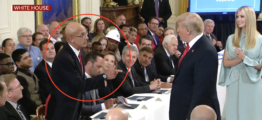 Hot Mic Catches What Marine Whispers To Trump At White House Event