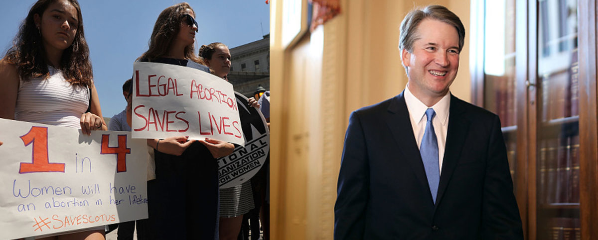 "Yale Law School students and faculty say that ""people will die"" if Brett Kavanaugh is confirmed as the next Supreme Court Justice. (Left photo: Spencer Platt/Getty Images, Right photo: Chip Somodevilla/Getty Images)"