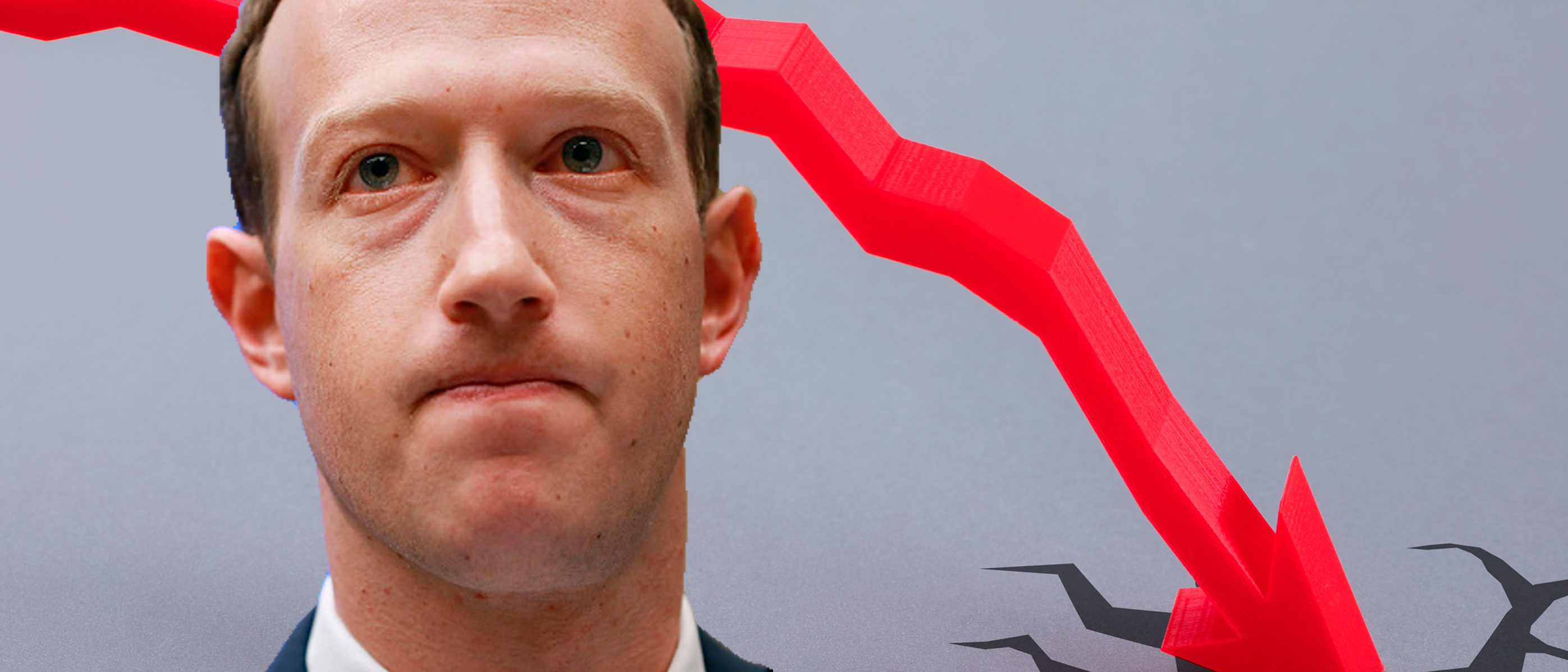 After having the slowest quarter in its history, Facebook market value plummeted almost $120 billion, making it the largest drop in market history. Images: Shutterstock.com, Chip Somodevilla/Getty Images. Edits by Kyle Perisic.