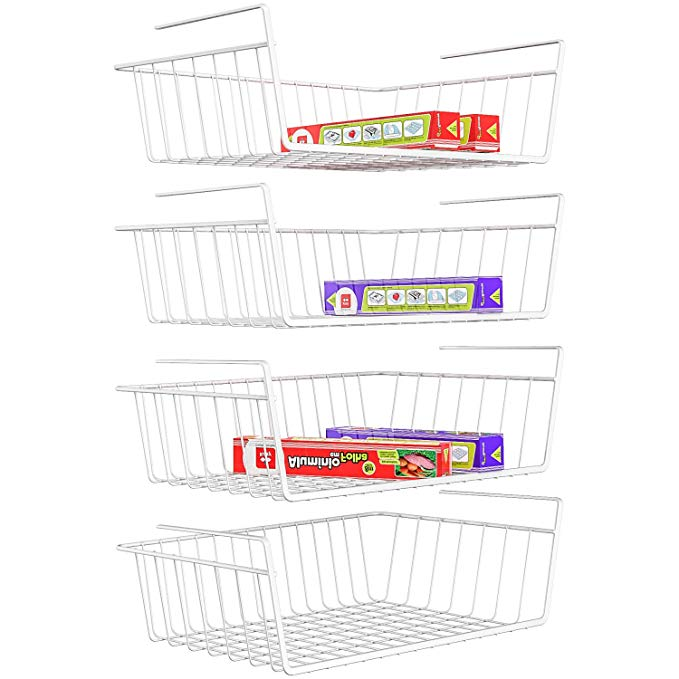 Normally $30, this 4-pack of under shelf baskets is 18 percent off with this code (Photo via Amazon)