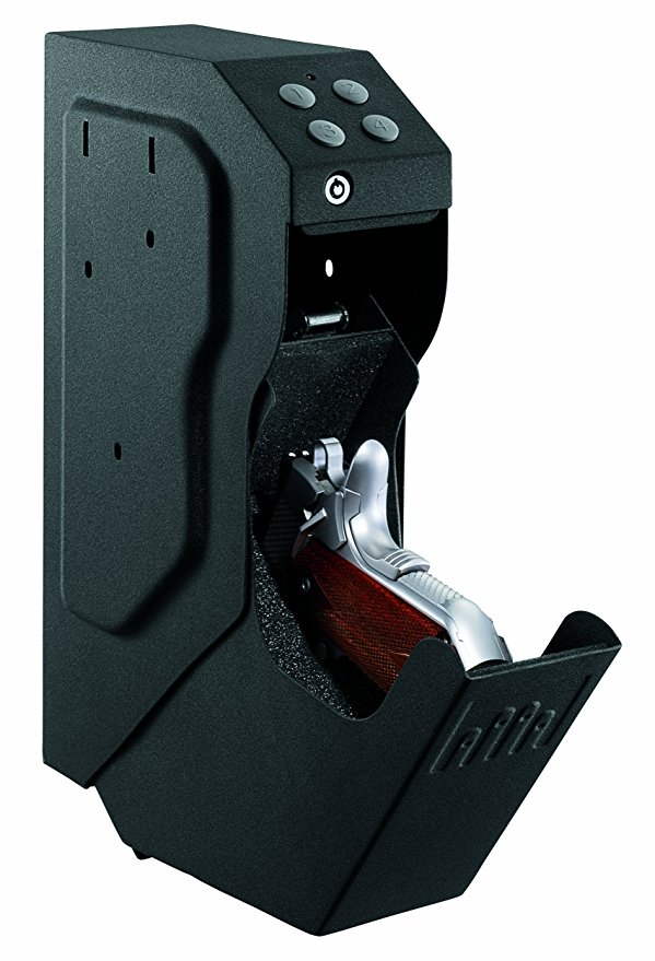 Guns Save Lives. Normally $210, this handgun safe is nearly 60 percent off (Photo via Amazon)