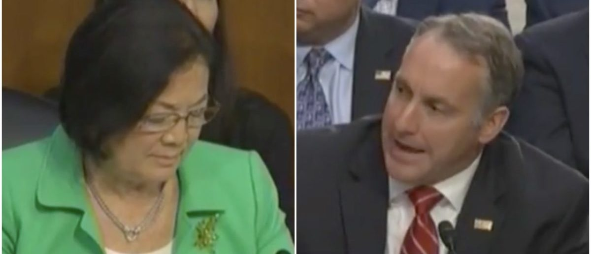 Senator Hirono (D-HI) gets schooled on immigration policy by ICE representative (PHOTO:Screenshot/C-SPAN)