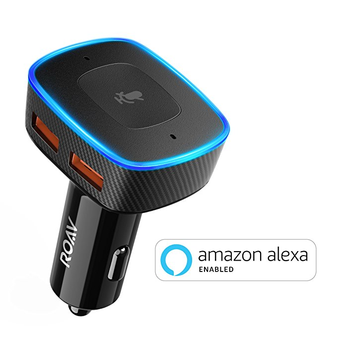 Normally $60, this Alexa-enabled car charger is 43 percent off today (Photo via Amazon)