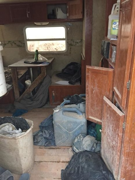 A photo provided by the Taos County Sheriff's Office shows the interior of a makeshift residence where five adults kept 11 children in appalling living conditions. (Photo courtesy of TCSO/Facebook)