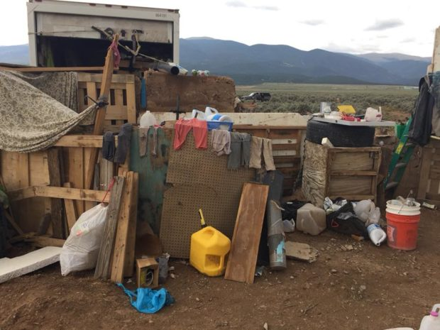 An image provided by the Taos County Sheriff's Office shows the exterior of a compound where 11 children were discovered living in terrible conditions. (Photo courtesy of TCSO/Facebook)