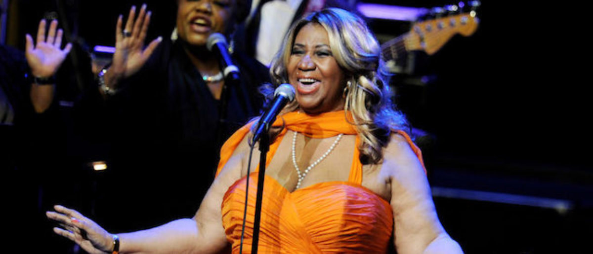 Singer Aretha Franklin performs at the Nokia Theatre L.A. Live on July 25, 2012 in Los Angeles, California. (Photo: Getty Images)
