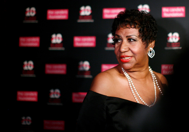 Singer Aretha Franklin arrives at the Candie's Foundation 10th anniversary Event to Prevent benefit New York May 3, 2011. REUTERS/Eric Thayer/File Photo