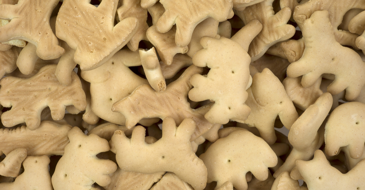 A close view of healthy low calorie animal crackers. (Shutterstock/ Louella938)