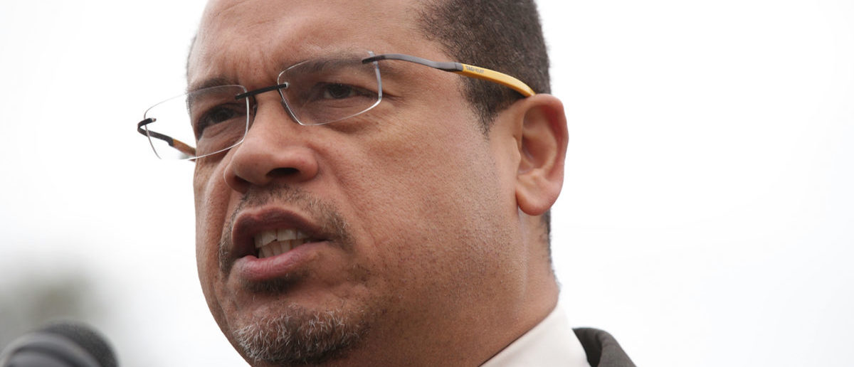 Democratic Minnesota Rep. Keith Ellison is accused of domestic violence. Ellison is the deputy chair of the DNC (Photo by Alex Wong/Getty Images)