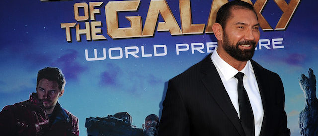 """Actor Dave Bautista attends the premiere of Marvel's """"Guardians Of The Galaxy"""" at the Dolby Theatre on July 21, 2014 in Hollywood, California. (Photo by Kevin Winter/Getty Images)"""