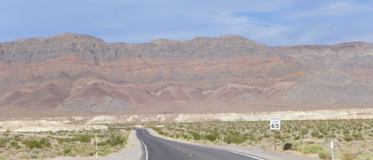 DEATH VALLEY, CA - JUNE 10: Highway in Death Valley, California on June 10, 2017. (Photo by Jim Steinfeldt/Michael Ochs Archives/Getty Images)