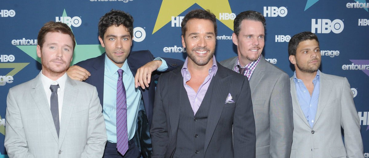 """NEW YORK, NY - JULY 19: (L-R) Actors Kevin Connolly, Adrian Grenier, Jeremy Piven, Kevin Dillon and Jerry Ferrara attend the """"Entourage"""" Season 8 premiere at the Beacon Theatre on July 19, 2011 in New York City. (Photo by Michael Loccisano/Getty Images)"""
