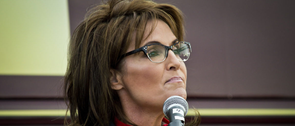 Former Alaska governor and political superstar Sarah Palin at the Tea Party rally for Steve Lonegan on October 12 2013 in New Egypt New Jersey -- ShutterStock Andrew F. Kazmierski