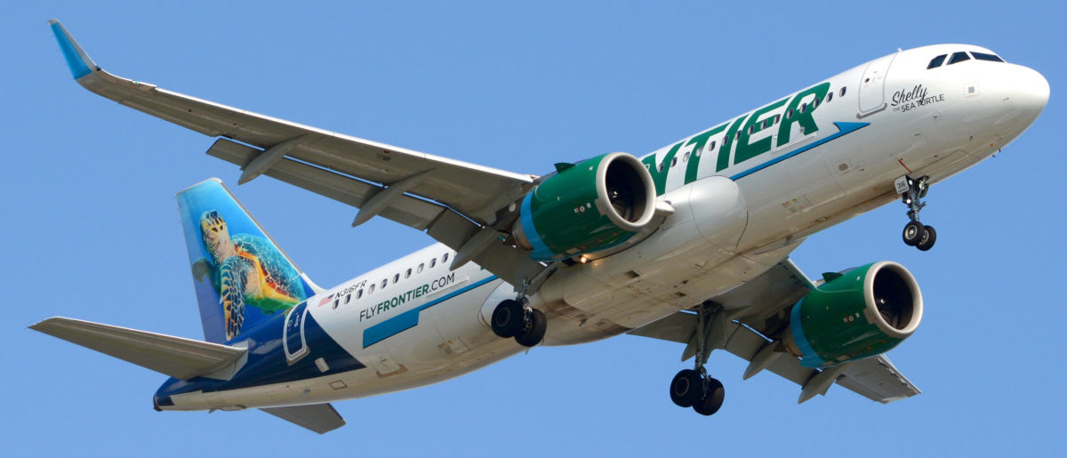Frontier Airlines Plane (Shutterstock/Charles A Pierce)