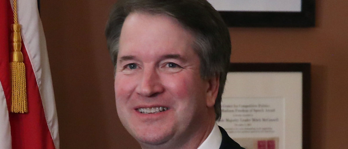 WASHINGTON, DC - AUGUST 01: Supreme Court Justice nominee Judge Brett Kavanaugh, meets with U.S. Sen. Marco Rubio (R-FL) at the U.S. Capitol on August 1, 2018 in Washington, DC. Kavanaugh is meeting with members of the Senate after U.S. President Donald Trump nominated him to succeed retiring Supreme Court Associate Justice Anthony Kennedy. (Photo by Mark Wilson/Getty Images)